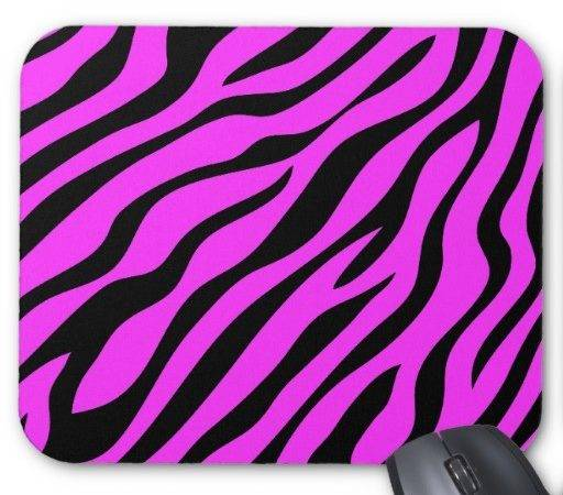Cool Zebra Print Mousepad Zazzle