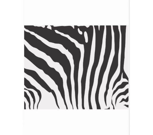 Cool Zebra Skin Print Pattern Shirt Postcard Zazzle