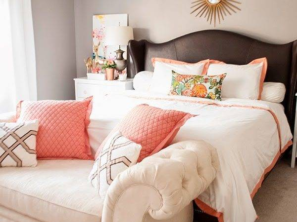 Copper Coral Blush Bedroom Cuckoo Design