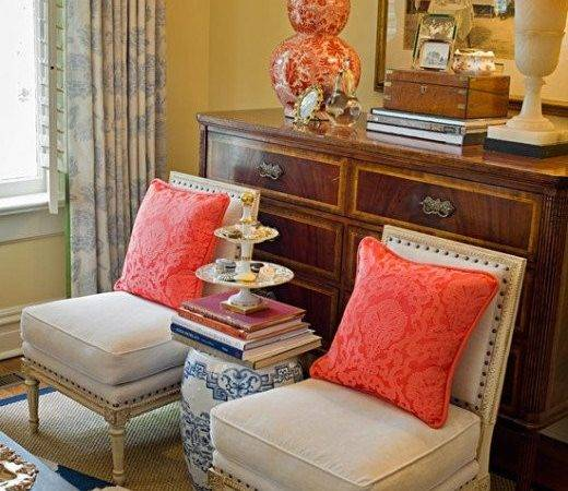 Coral Living Room Bedroom Color Blends Diy Decorating