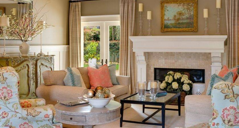 Coral Living Room Ideas Contemporary