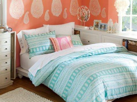 Coral Teal Bedroom Ideas