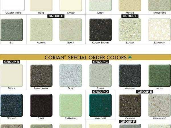 Corian Color Chart Countertop
