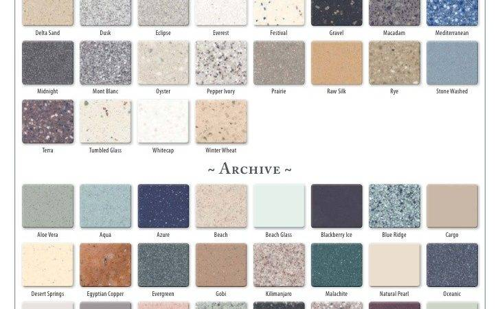 Corian Countertop Color Chart Pin Pinterest