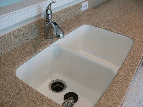Corian Countertop Integrated Seamlessly Kitchen
