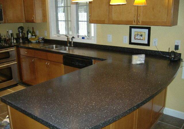 Corian Countertops Gravel Traditional Kitchen