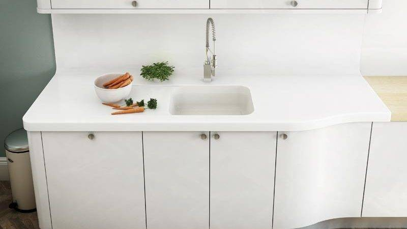 Corian Integrated Bathroom Sink
