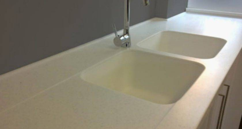 Corian Integrated Sinks Kitchen Counter