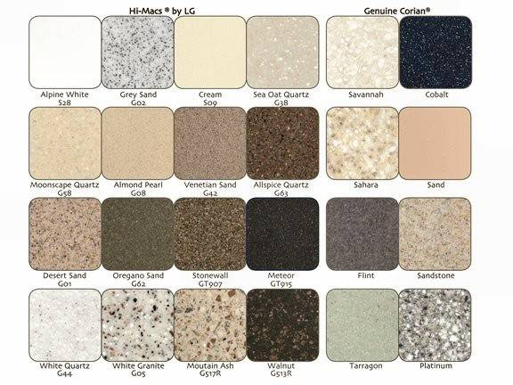 Corian Solid Surface Colors Pin Pinterest