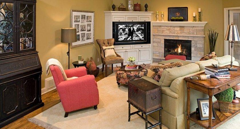 Corner Allows Turn Fireplace Into Focal