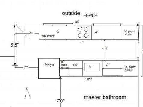 Corridor Kitchen Floor Plans Small Shaped