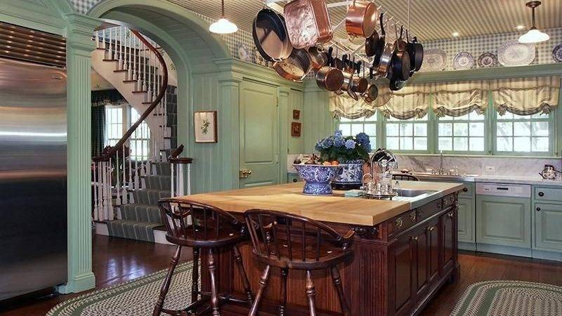 Cottage Kitchen One Wall High Ceiling Larchmont
