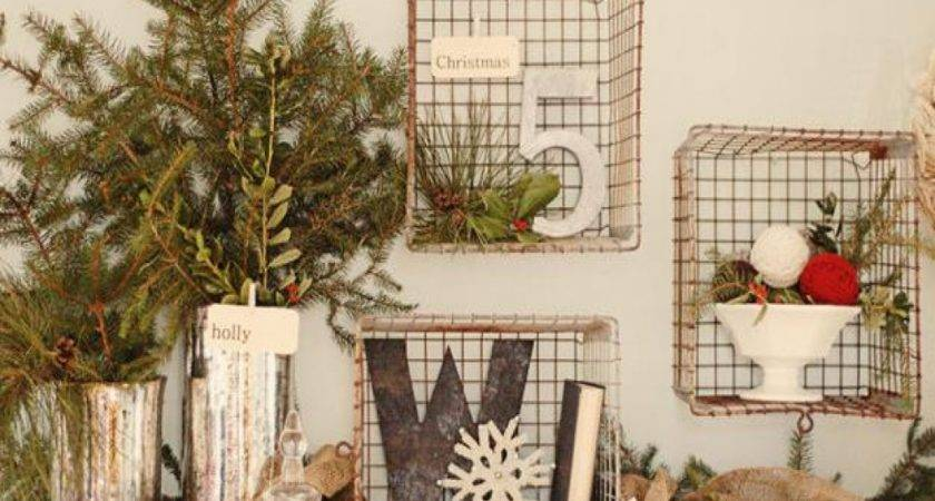 Country Christmas Style Rustic Decorations