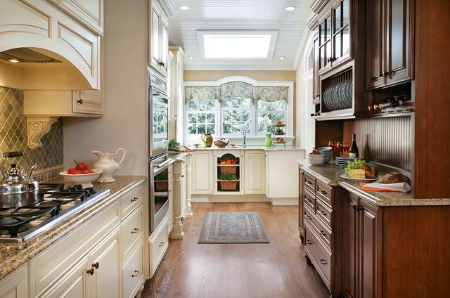 Country Cottage Galley Kitchen Traditional