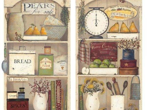 Country Kitchen Shelves Wall Applique Warehouse