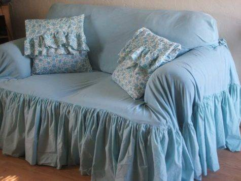 Country Slipcovers Shabby Chic Blue Color Ideas