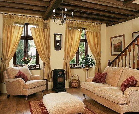 Country Style Living Room Curtains Home Garden