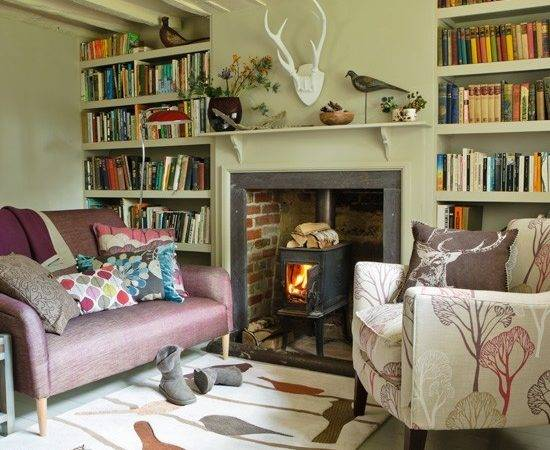Country Style Living Room Fireplace