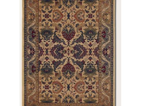 Couristan Anatolia Persian Royal Plume Cream Plum Area Rug
