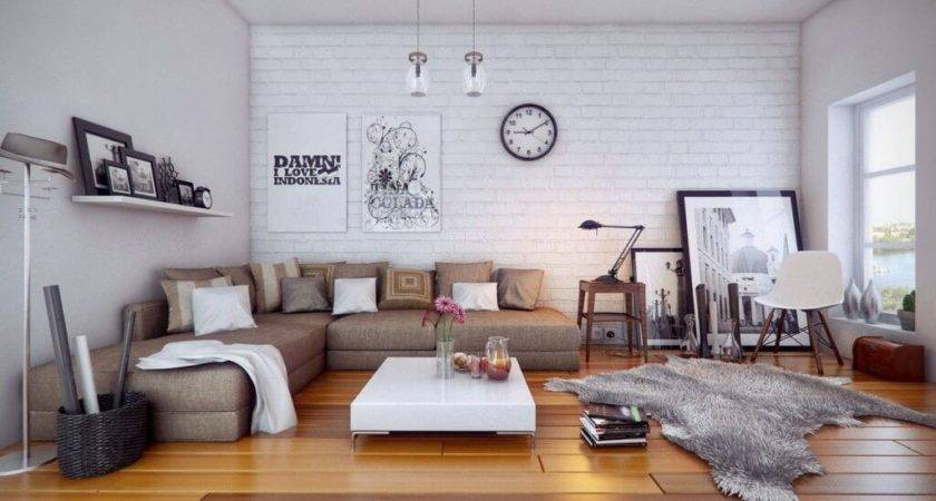Cozy White Apartment Living Room Ideas Sectional Sofa