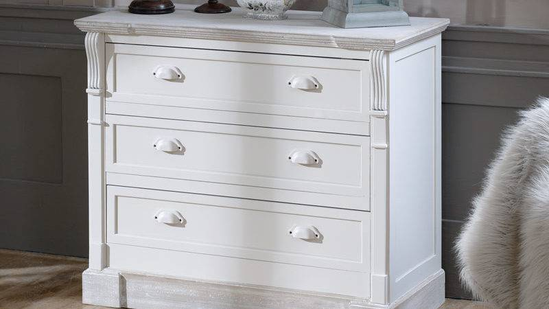 Cream Country Wooden Chest Drawers Vintage Style Bedroom