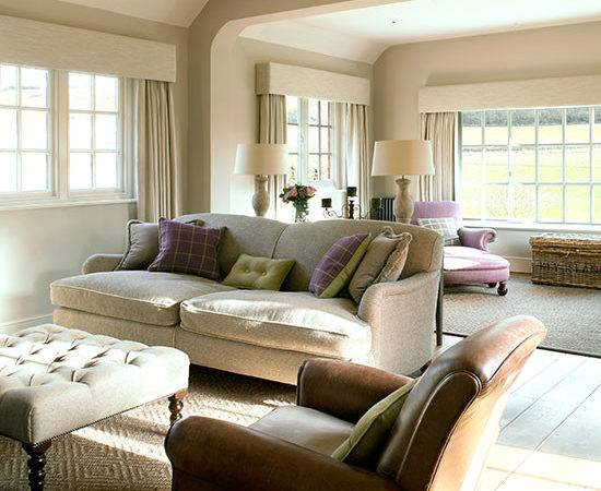 Cream Leather Living Room Ideal Home