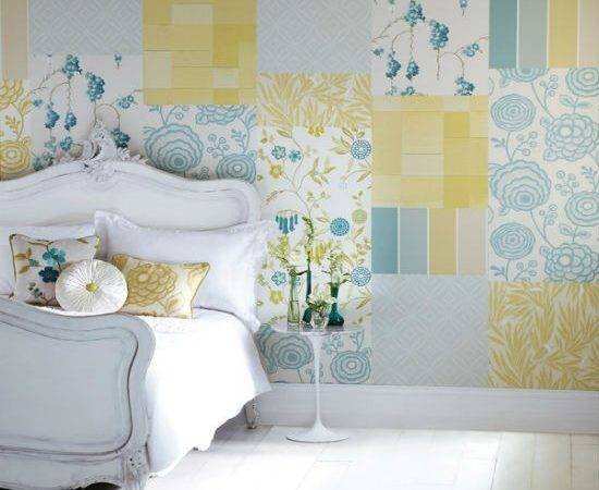 Create Patchwork Feature Wall Bedroom Ideas