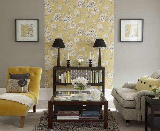 Creative Gray Yellow Living Room Decor Concerning