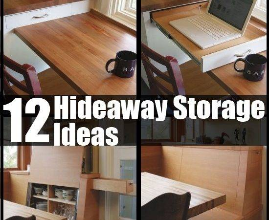 Creative Hideaway Storage Ideas Small Homes Diy