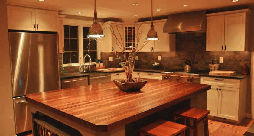 Custom Mahogany Wood Kitchen Countertop Blue Bell