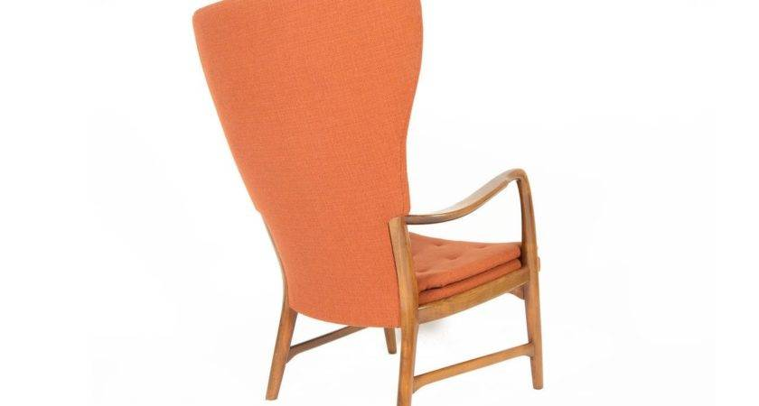 Danish Modern Wingback Lounge Chair Terracotta Stdibs