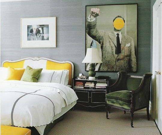 David Dangerous Grey Yellow Interiors
