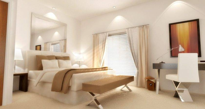 Dazzling White Bedroom Ideas Exciting Recessed