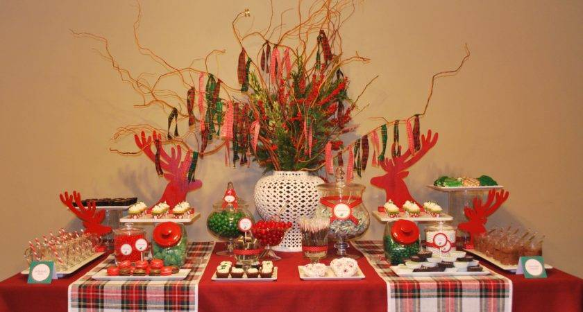 Decorate Buffet Table Christmas Party Decor