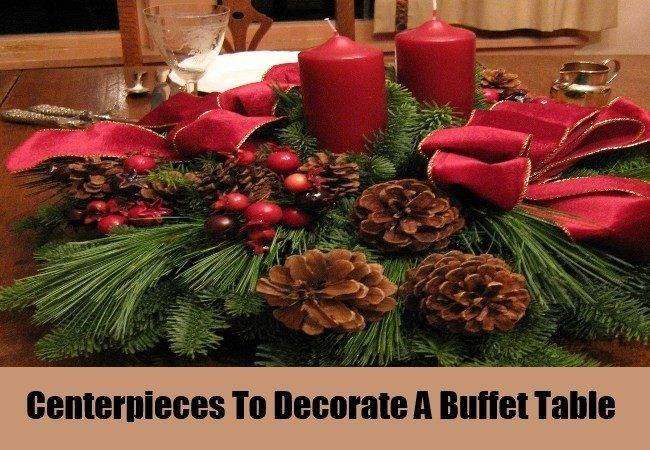 Decorate Buffet Table Christmas Ways