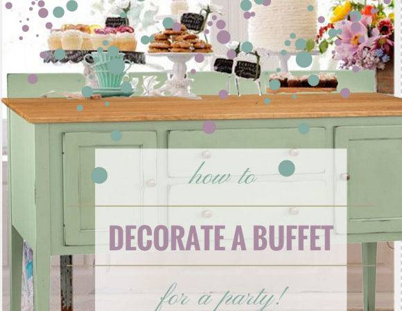 Decorate Dining Room Buffet Timber Table