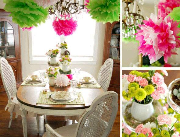 Decorate Easter Spring Party Table Home Remedies