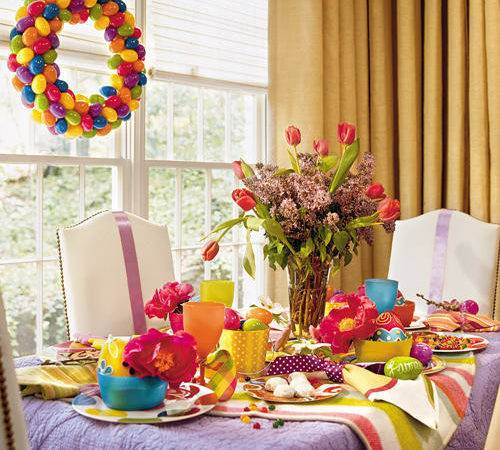 Decorate Easter Spring Party Table Simple Home Decoration
