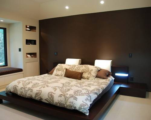 Decorate Your Bedroom Brown Accent Wall Home