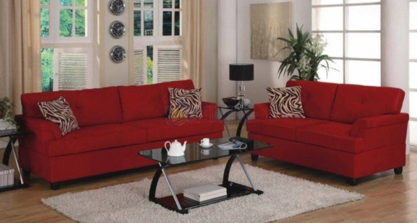 Decorate Your Living Room Red Sofa