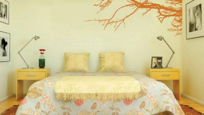 Decorating Bedroom Modern Wall Stickers Paint Designs