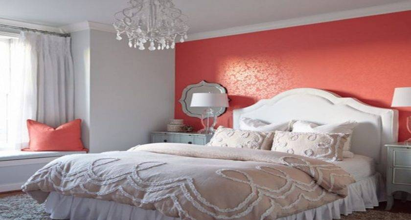 Decorating Bedroom Walls Coral Grey Wall