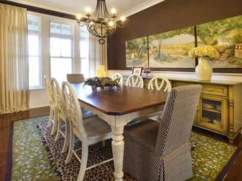 Decorating Ideas Large Dining Room Wall