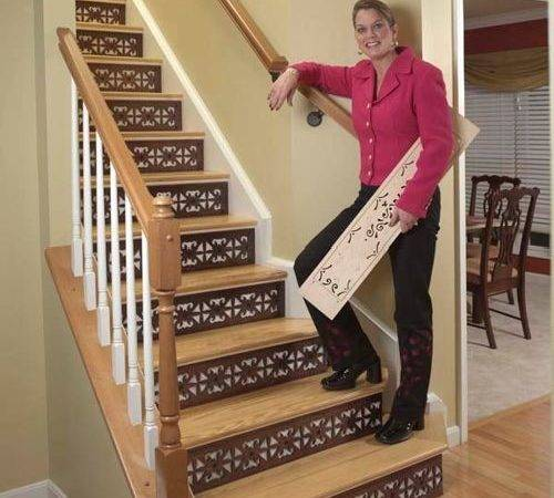 Decorating Stair Risers Home Design Ideas