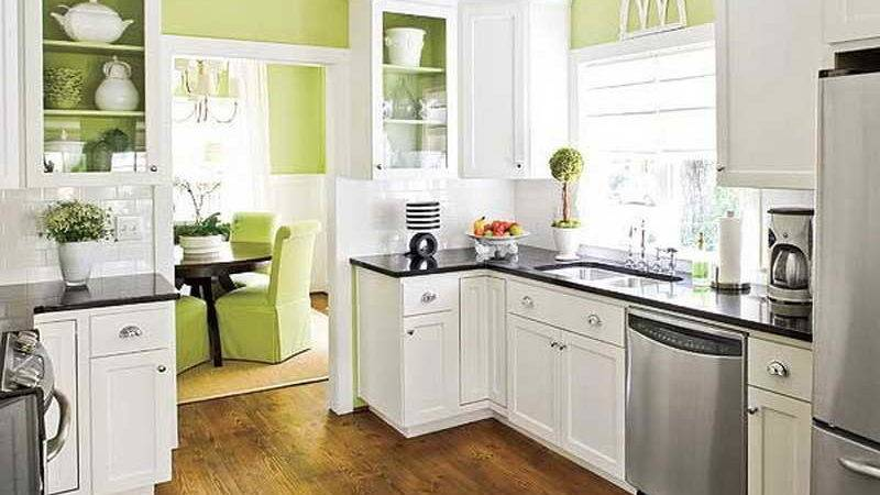 Decoration Apple Green Kitchen Wall Decorating Color