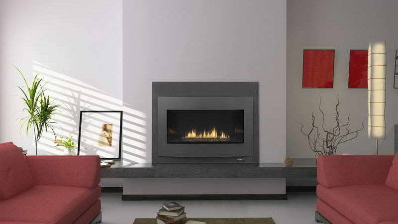 Decoration Contemporary Gas Fireplace Design Red