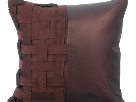 Decorative Throw Pillow Cover Accent Couch Sofa Leather