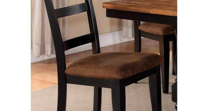 Denmark Classic Distressed Black Dining Chairs Set