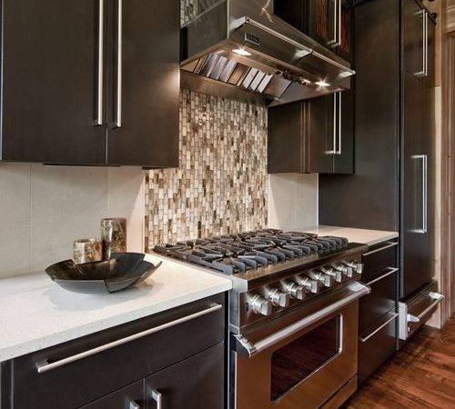 Different Tile Behind Stove Home Design Ideas