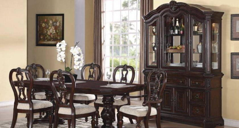 Dining Room Formal Sets China Cabinet Furniture White